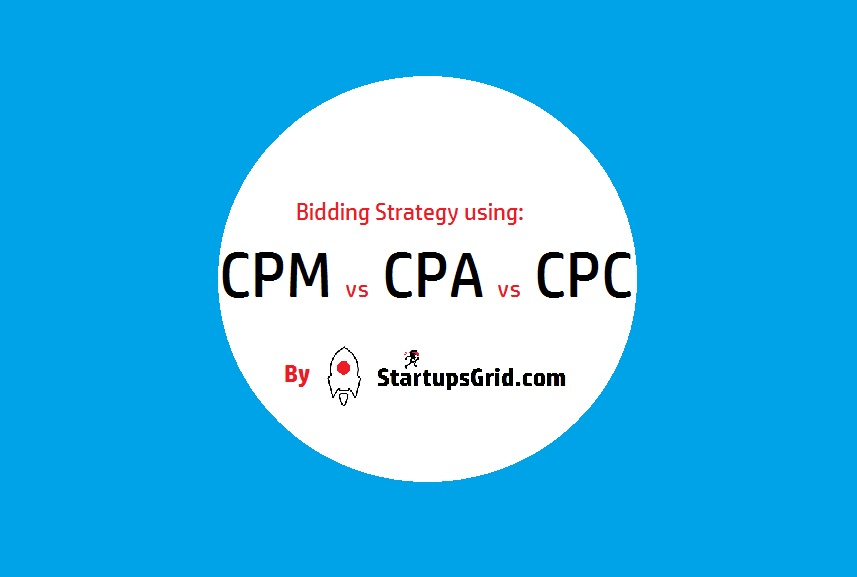 Bidding Strategy using CPM, CPA and CPC