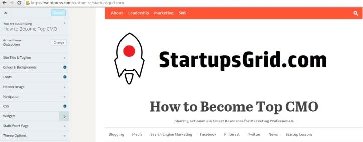 WordPress Customize