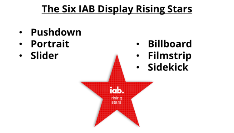 The SIX IAB RISING STARS
