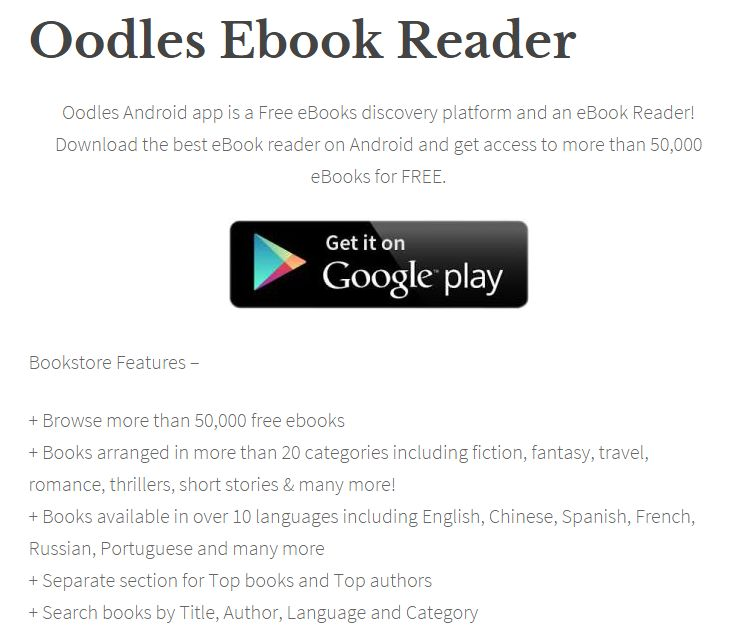 Visit and Download the oodles for your Android device.