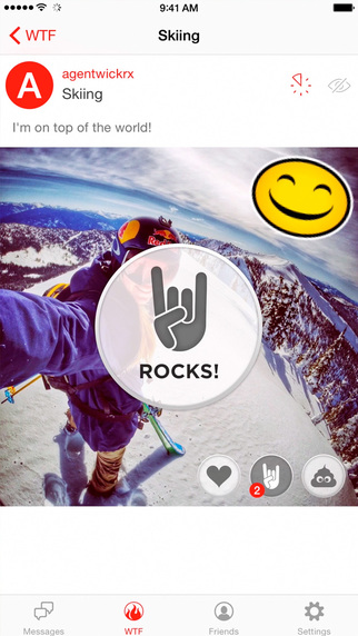Wickr app screenshot